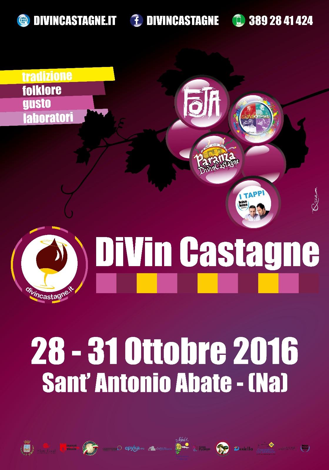 Divin Castagne 2016: un'esperienza unica tra sapori e musiche della tradizione!