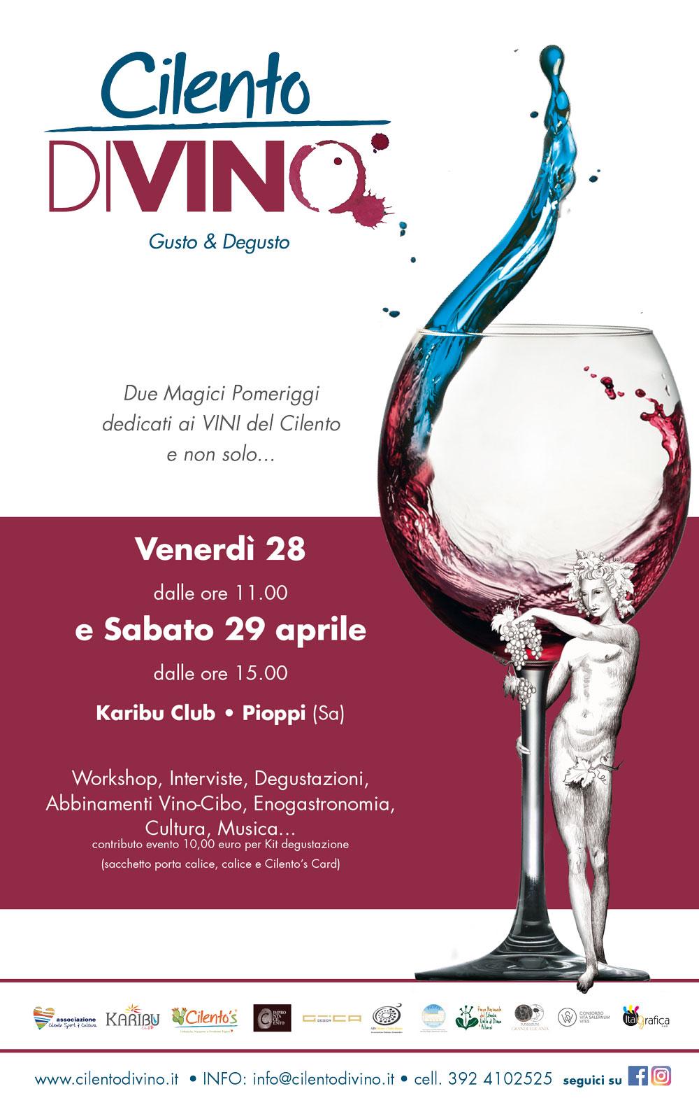 A Pioppi il 28 e 29 aprile 2017 si terrà la prima edizione di CILENTO DIVINO