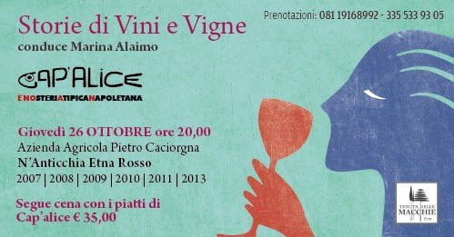 26 ottobre: Storie di Vini e Vigne a Cap'alice