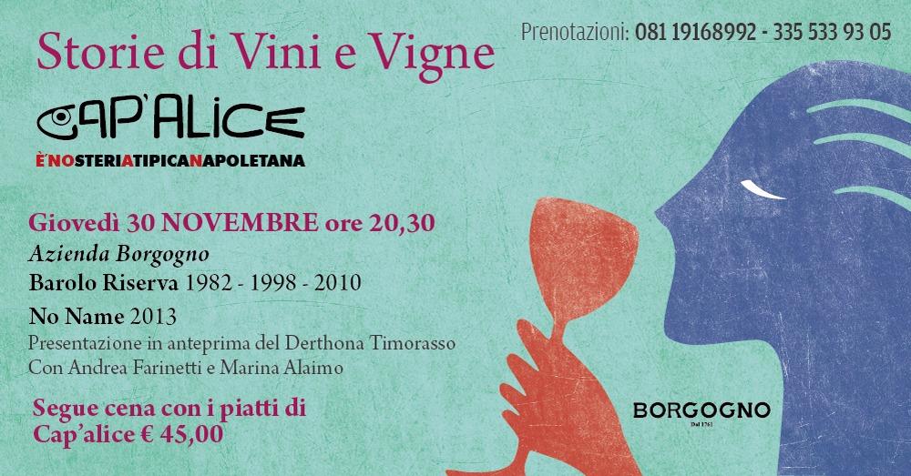 30 novembre il Barolo Borgogno con Andrea Farinetti a Cap'alice.