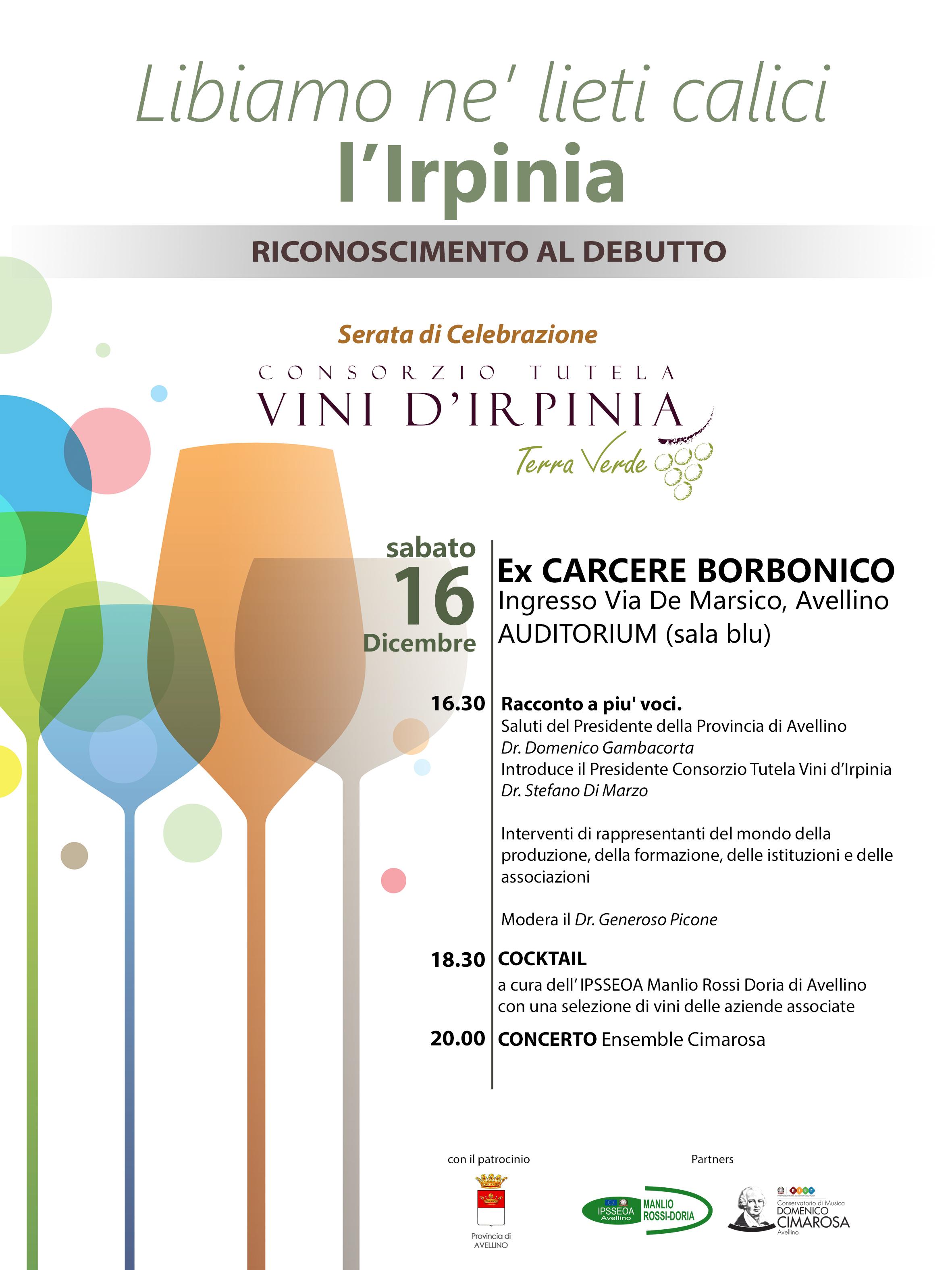 L'Irpinia Brinda: Le voci del consorzio di tutela dei vini