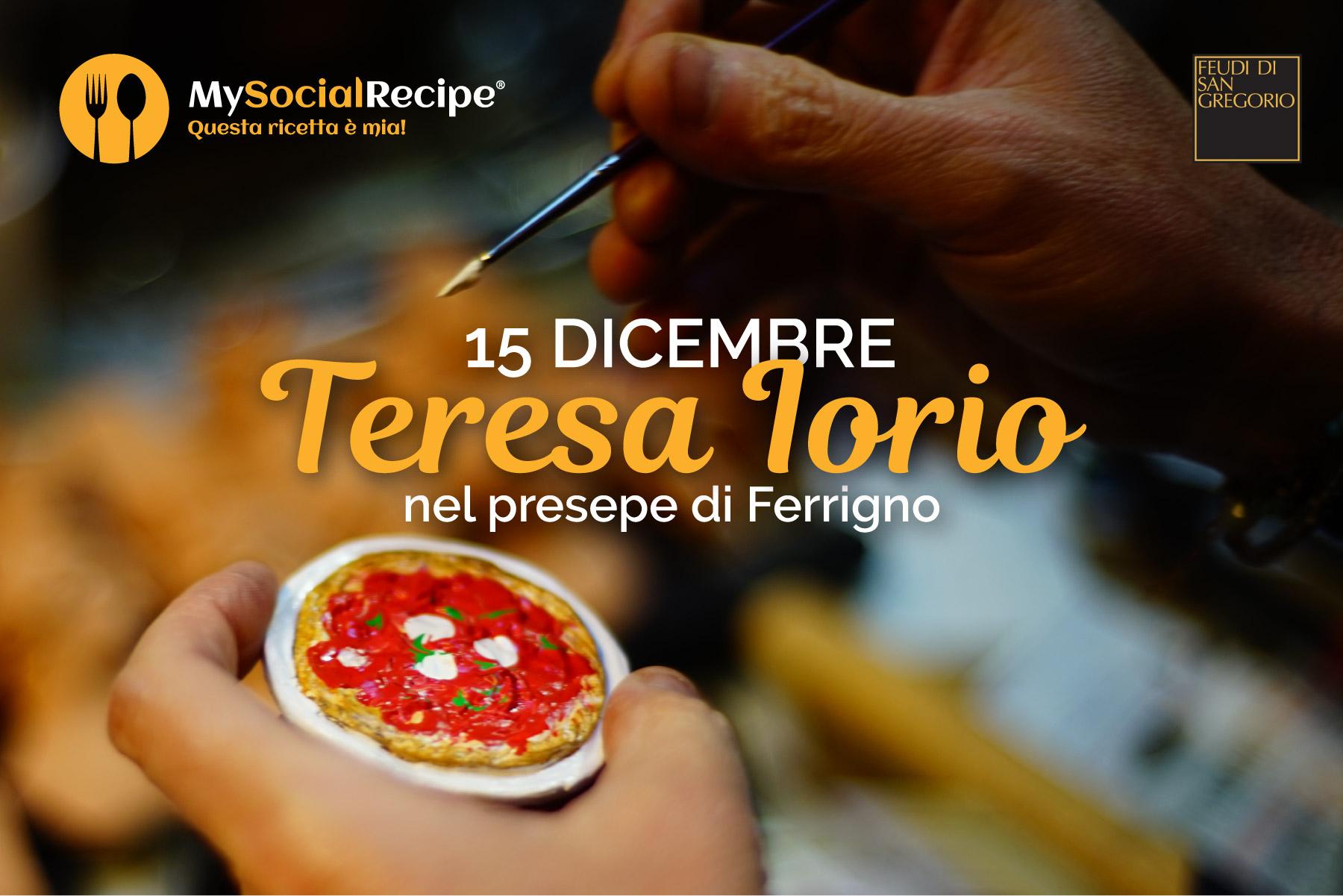 Teresa Iorio, la prima pizzaiola nel presepe di Ferrigno.