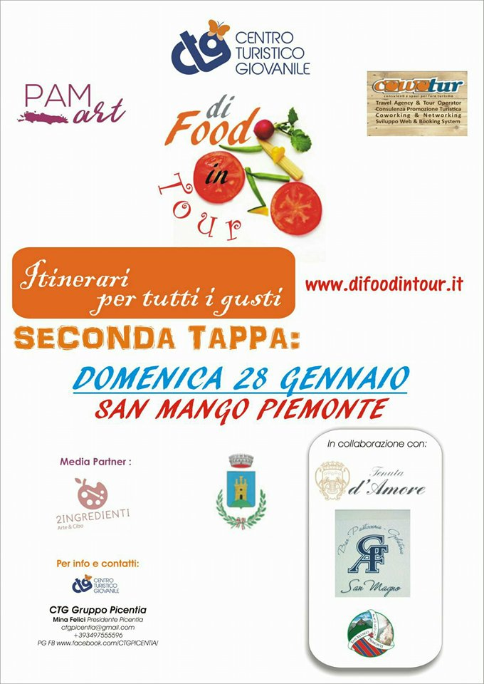 """Food in Tour. Itinerari per tutti i Gusti"""