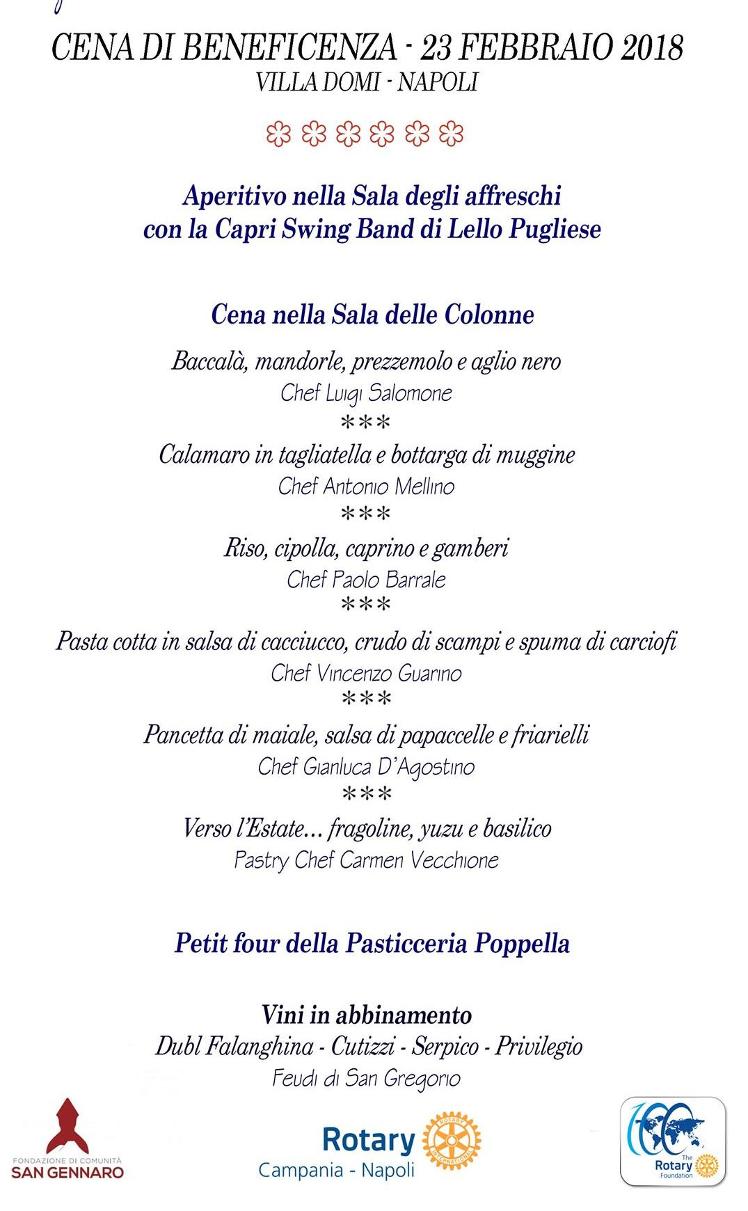 """il Rotary club presenta la Cena di Beneficenza """"e quindi uscimmo a riveder le stelle"""""""