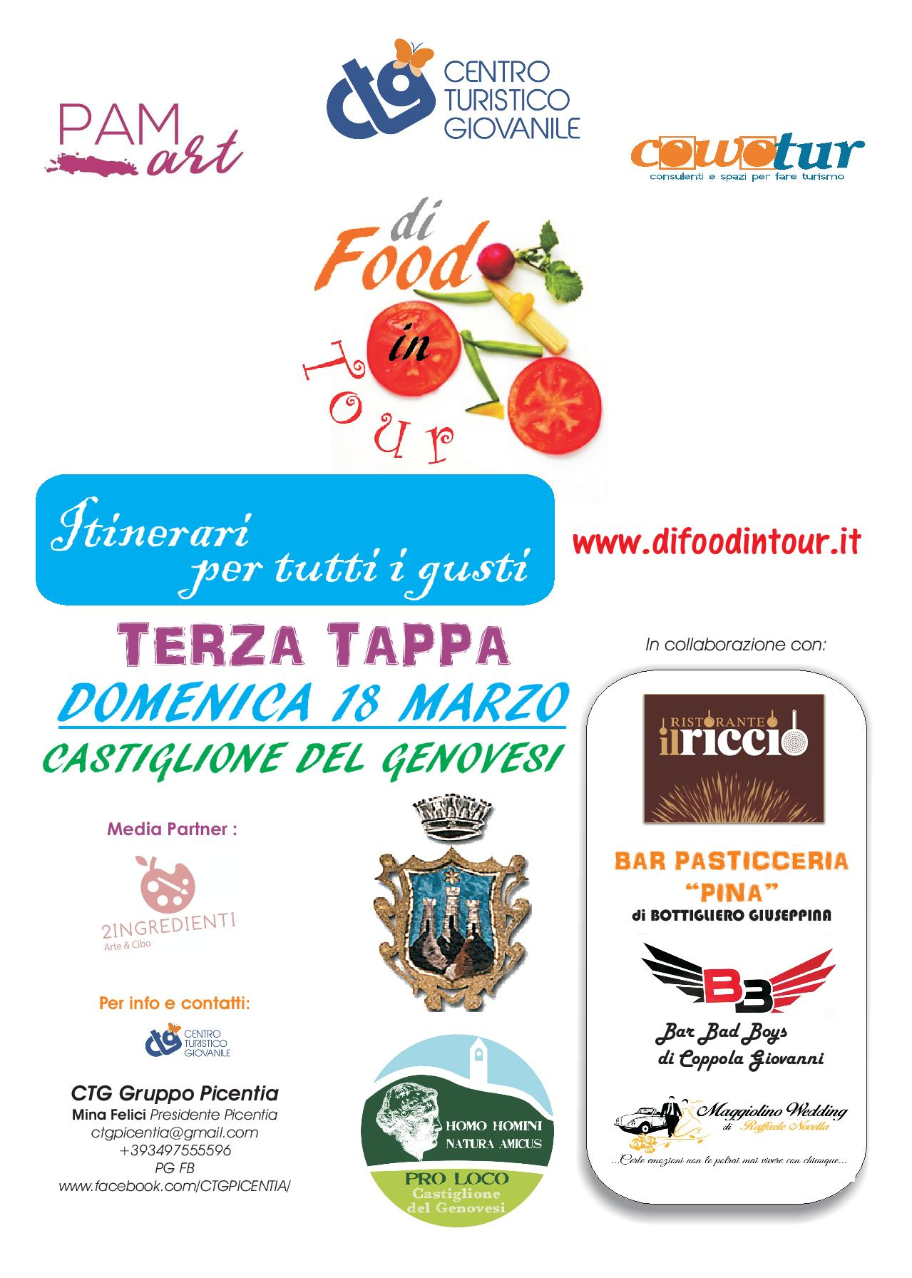 Food in tour- itinerari per tutti i gusti.