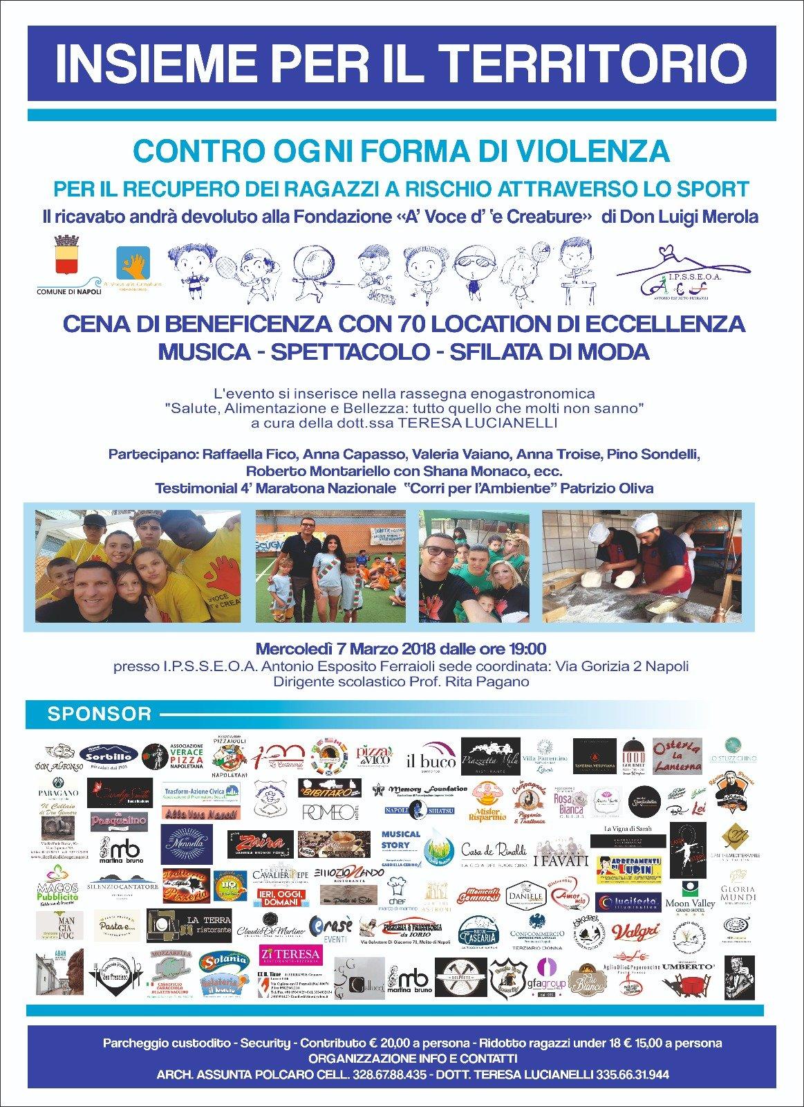 #InsiemeperilTerritorio: evento eno-gastronomico di beneficenza