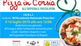 Pizza in Corsia all'ospedale Pausillipon