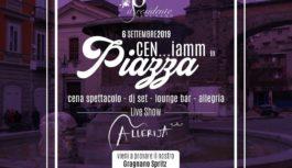 CEN…iamm in Piazza, la cena spettacolo a Gragnano